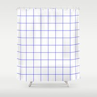 grid Shower Curtains featuring GRID by G-VNCT