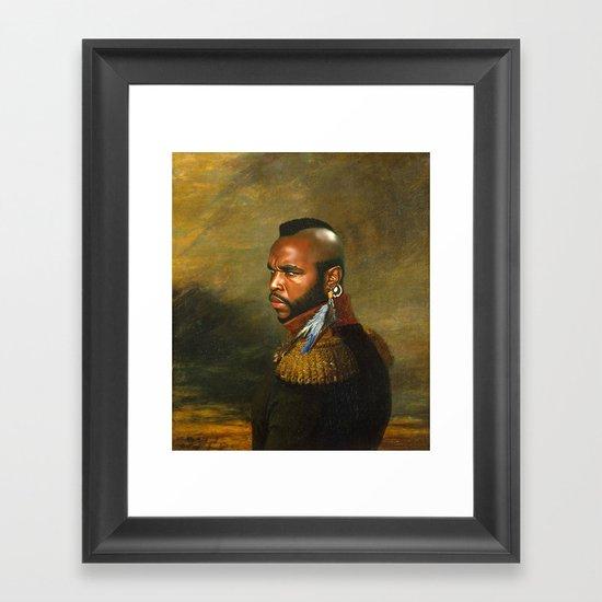 Mr. T - replaceface Framed Art Print