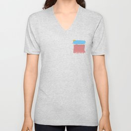 Abstract Wiggles and Waves Unisex V-Neck
