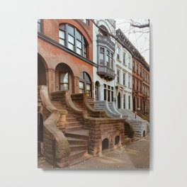 Park Slope Brownstones Metal Print