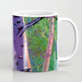 Poplars in winter at the sunset Coffee Mug