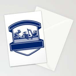 Mulching Bush Hogging Excavation Services Badge Stationery Cards
