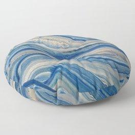 Blue swirls 879 Floor Pillow