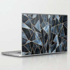 Shattered Soft Dark Blue Laptop & iPad Skin