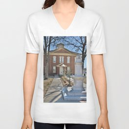 Cherokee Nation - Capitol in Tahlequah, No. 2 of 3 Unisex V-Neck
