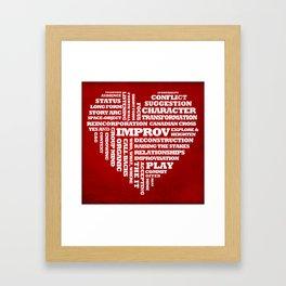 Improv Heart Framed Art Print