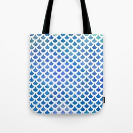 Fish scale pattern | blue & white Tote Bag