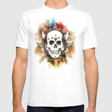 Summer Blues Mens Fitted Tee White SMALL