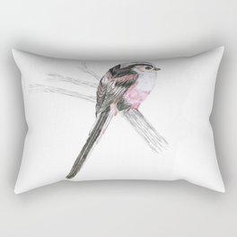 Tailed tit Rectangular Pillow