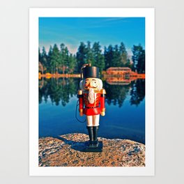 Lakeside nutcracker Art Print