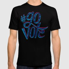 #GoVote Mens Fitted Tee Black SMALL