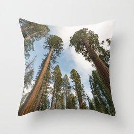 Redwood Sky - Giant Sequoia Trees Throw Pillow