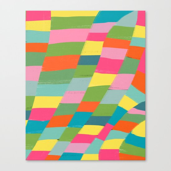 colorful patchwork 3 Canvas Print