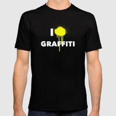 I heart Graffiti Black SMALL Mens Fitted Tee