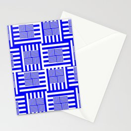Blue Peppermints Stationery Cards