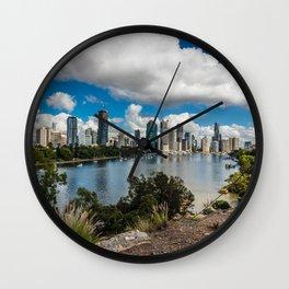 Brisbane City Skyline Wall Clock