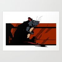 rat Art Prints featuring Rat by Alvaro Cubero