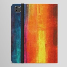 Philip Bowman Color Fields II Modern Abstract Art Painting iPad Folio Case