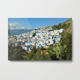 Looking Over Chefchaouen Metal Print