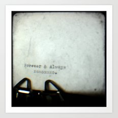 Forever and Always TTV Art Print