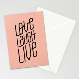 Peach Love L L Stationery Cards
