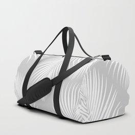 Gray Tropical Pattern Duffle Bag