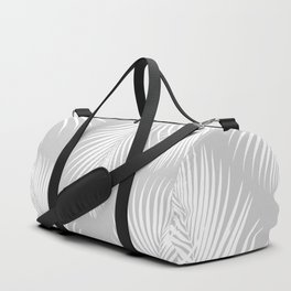 Gray Tropical Pattern Duffle Bag