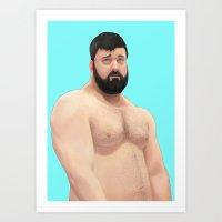 teddy bear Art Prints featuring Teddy by Mavekk