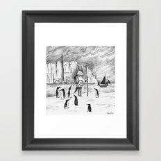 Antarctic explorer Framed Art Print