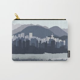 Vancouver Skyline in Blues Carry-All Pouch