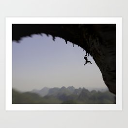 Shoulin Cliffhanger by Boone Speed Art Print
