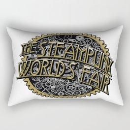 The Steampunk Worlds Fair Logo Poster Rectangular Pillow