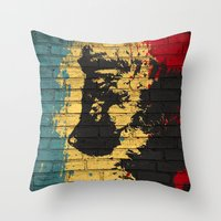 puppy Throw Pillows featuring puppy by Ezgi Kaya