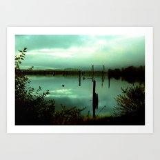 Green Bridge  Art Print