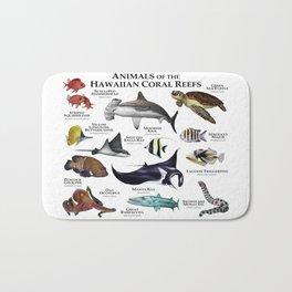 Animals of the Hawaiian Coral Reefs Bath Mat