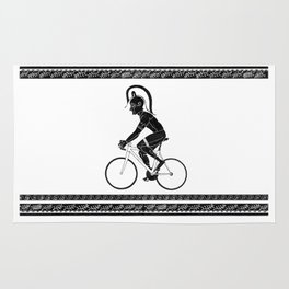 Cyclist of Spartacus Rug