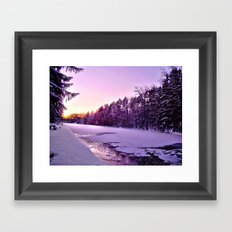 Frozen Voyage Framed Art Print