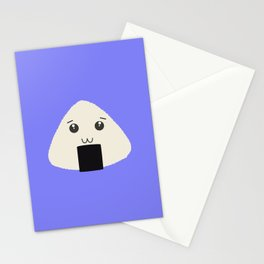 kawaii onigiri rice face Stationery Cards