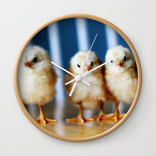 buckeye chicks Wall Clock