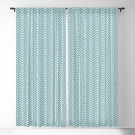 Aqua Frond Layers Small Blackout Curtain