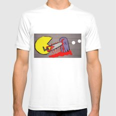 killer pacman MEDIUM White Mens Fitted Tee