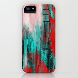 Intense Red And Blue iPhone Case