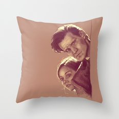 Mysterious People - Doctor Who Throw Pillow