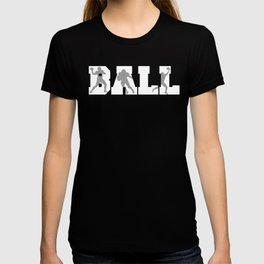 Ball Football Player Silhouettes T-shirt