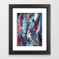 Blue Moon Abstract Framed Art Print