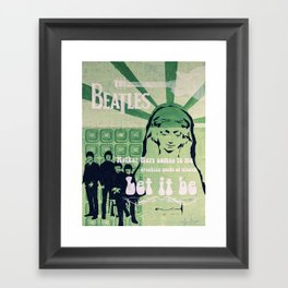Let It Be (Painted Version) Framed Art Print