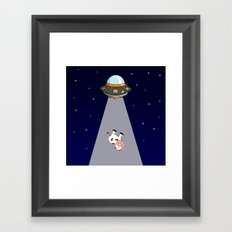 Galactic Ticket Framed Art Print