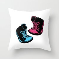 sneakers Throw Pillows featuring Sneakers by Cindys