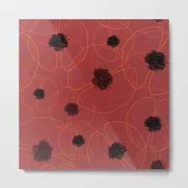 Poppy Red Pattern MT Metal Print