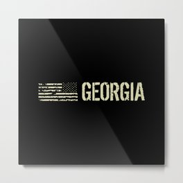 Black Flag: Georgia Metal Print